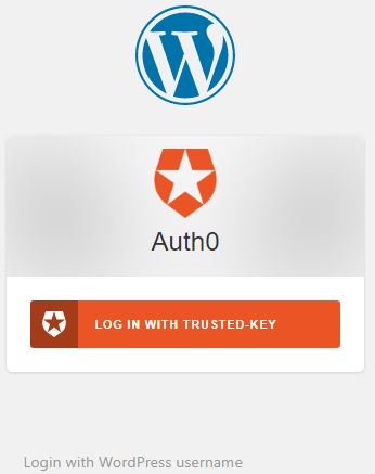 Auth0 trusted key login demo