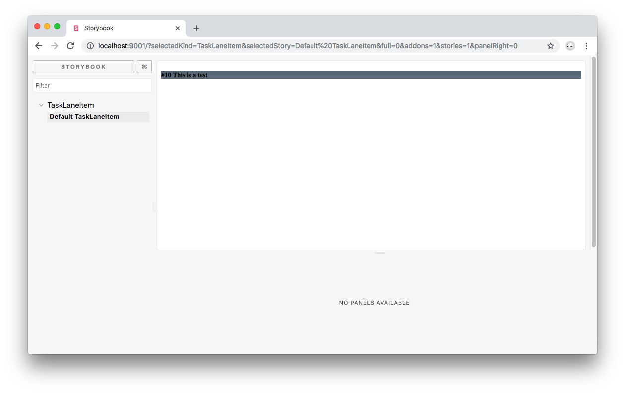 Vue Storybook up and running.