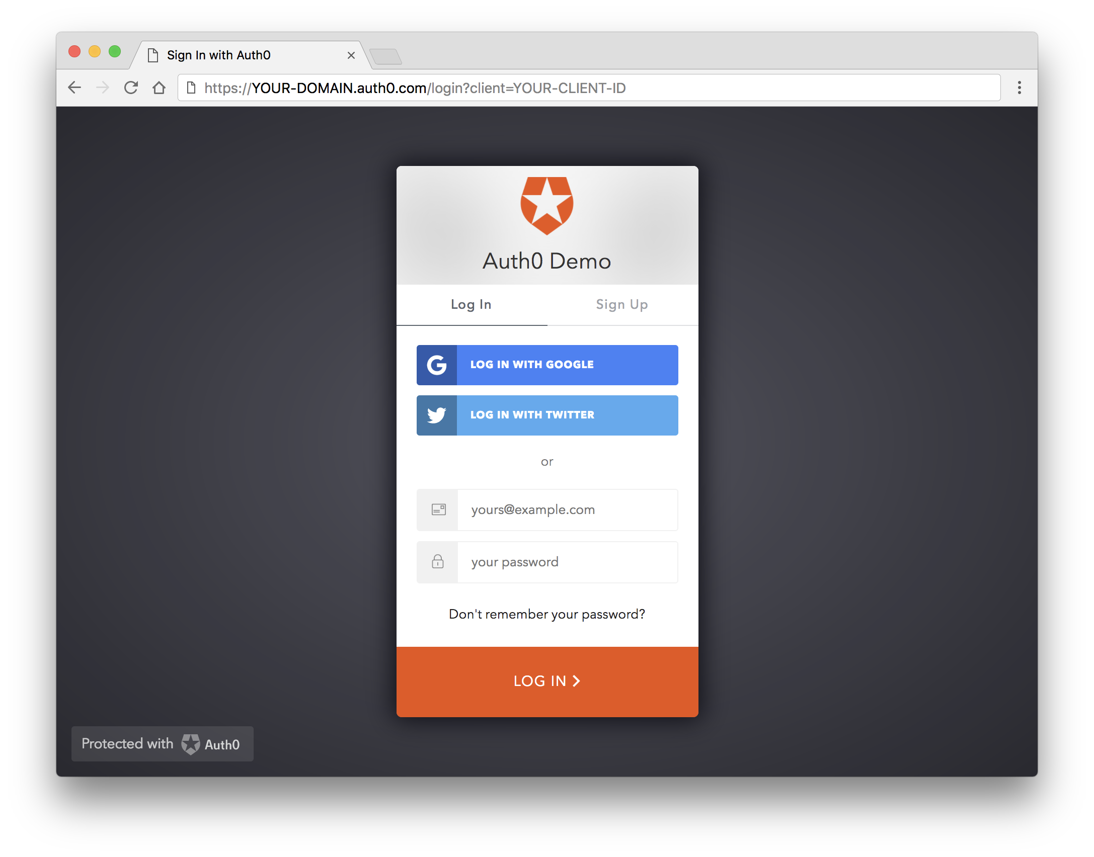 Centralized Login Page