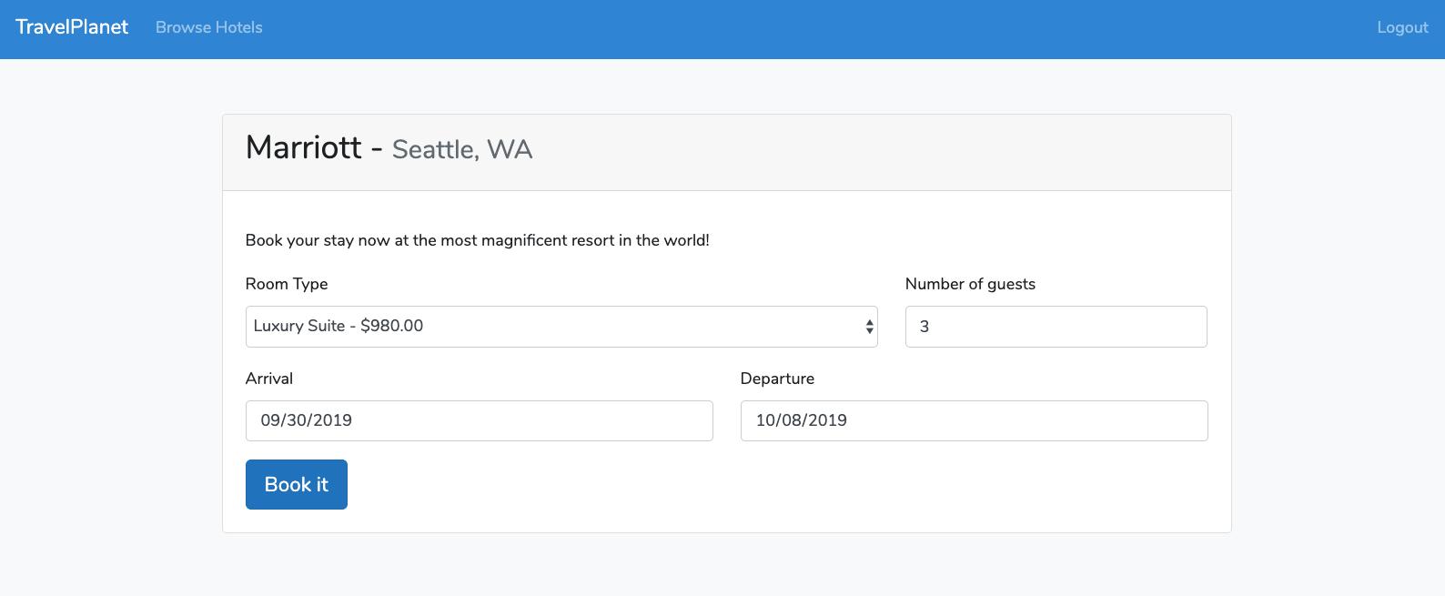 Laravel 6 create reservation demo app book now