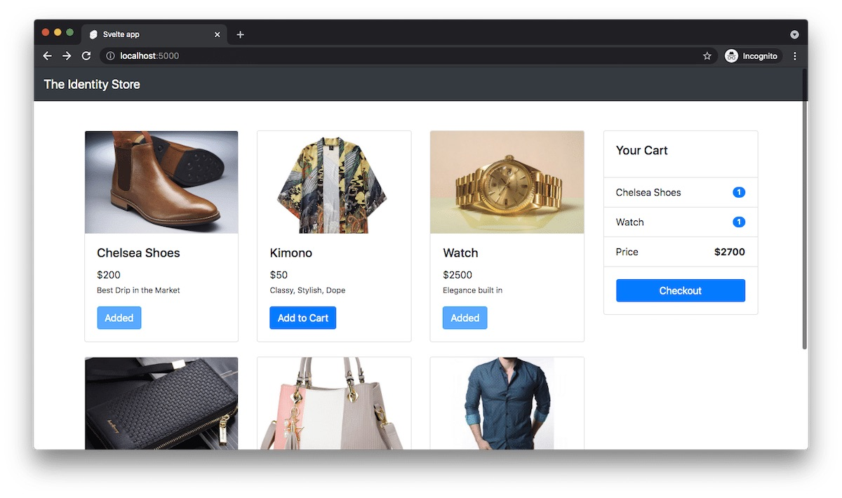 """Items selection - E-commerce App"""
