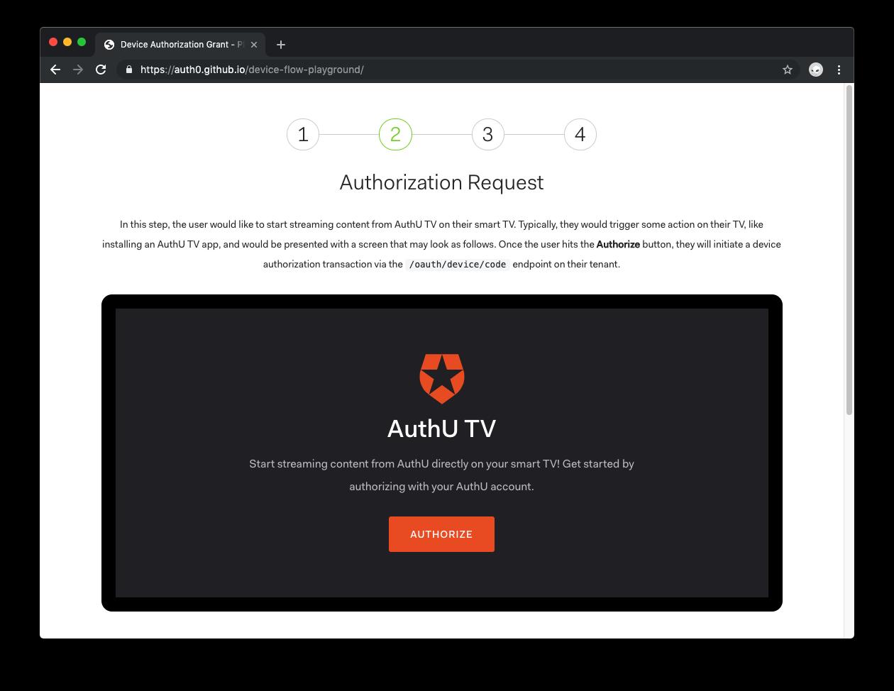 Auth0 Device Flow:認証リクエスト