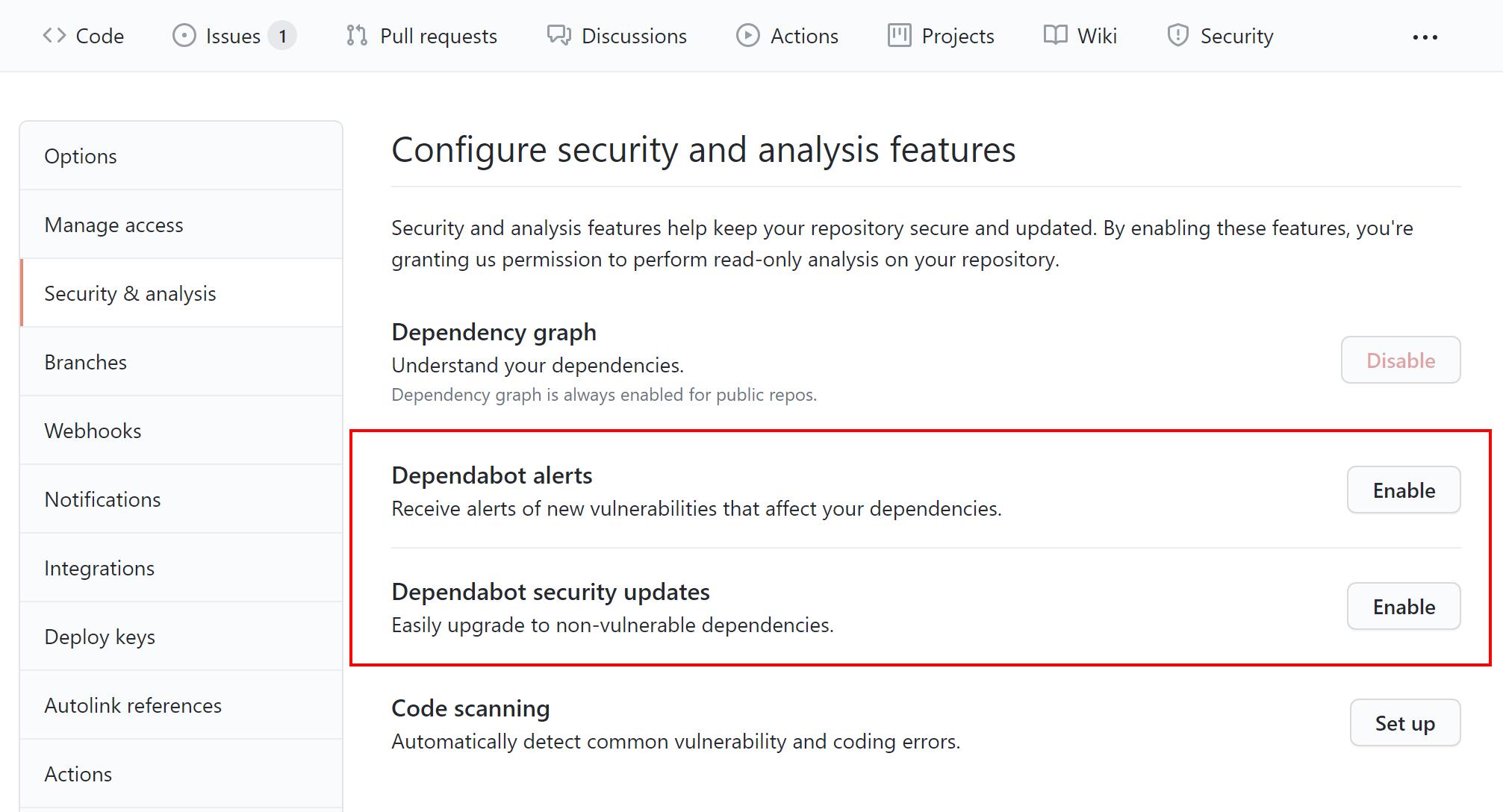 GitHub security updates