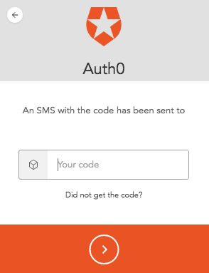 Entering SMS Confirmation