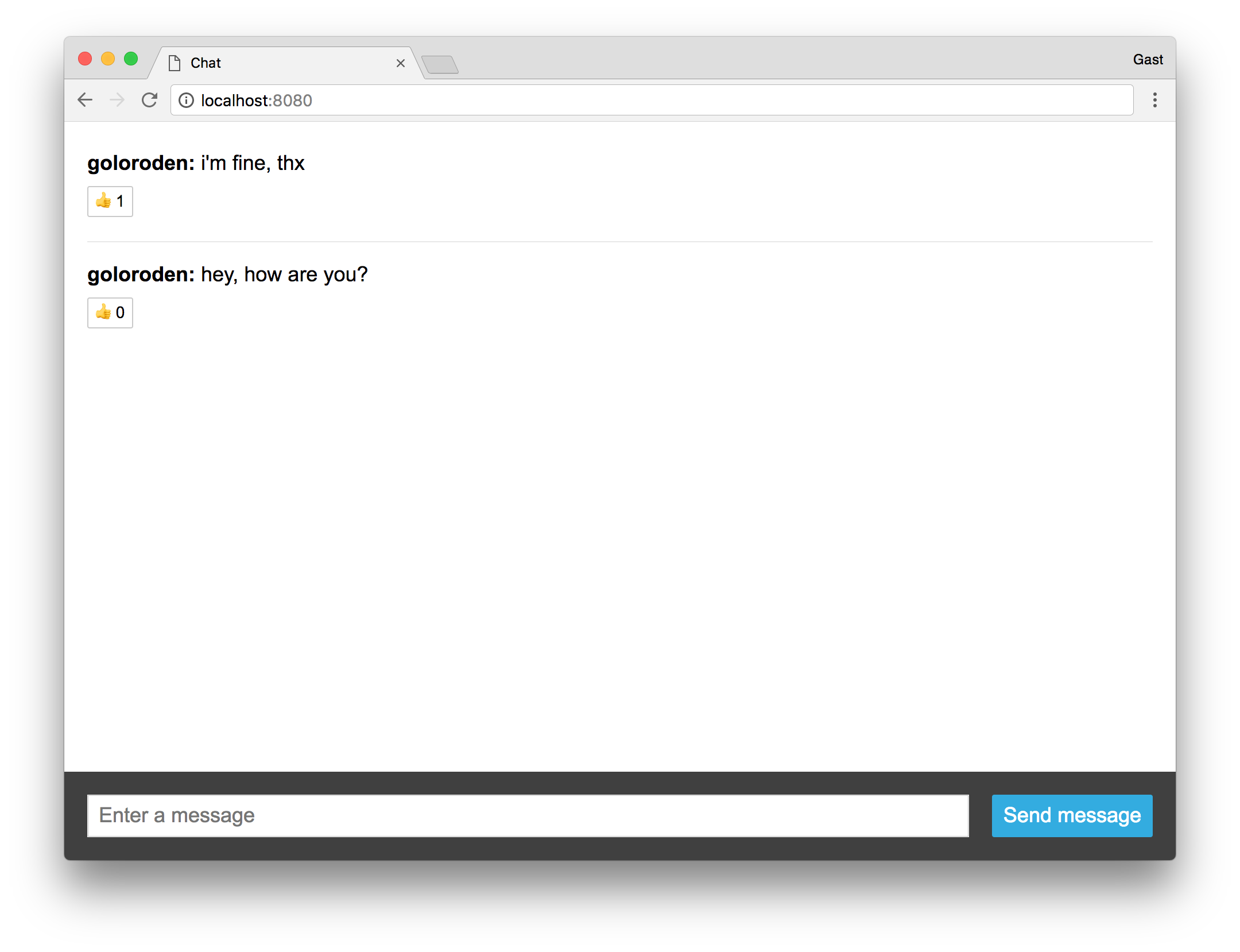 Running the chat with authentication