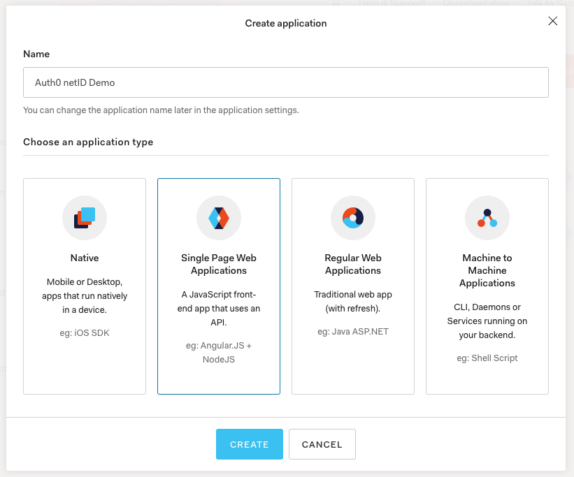 Choosing an Auth0 application type