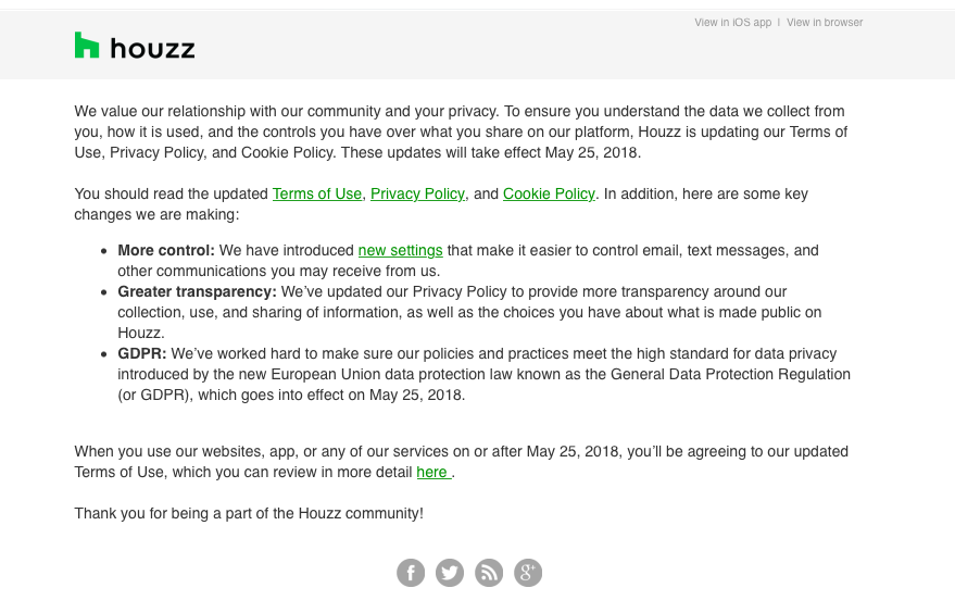 Houzz updates its policies to make them more transparent
