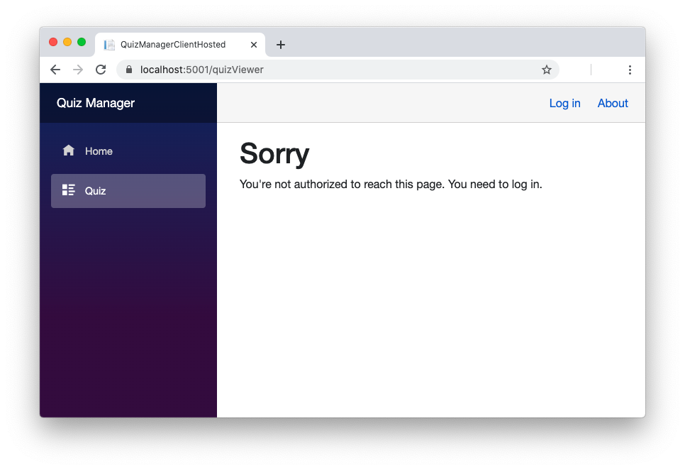 Blazor app and the unauthenticated user