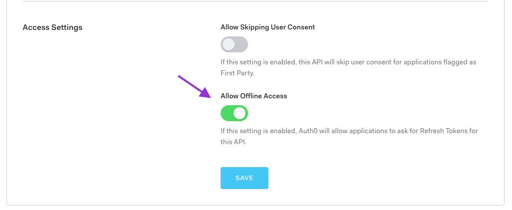 Enable offline access