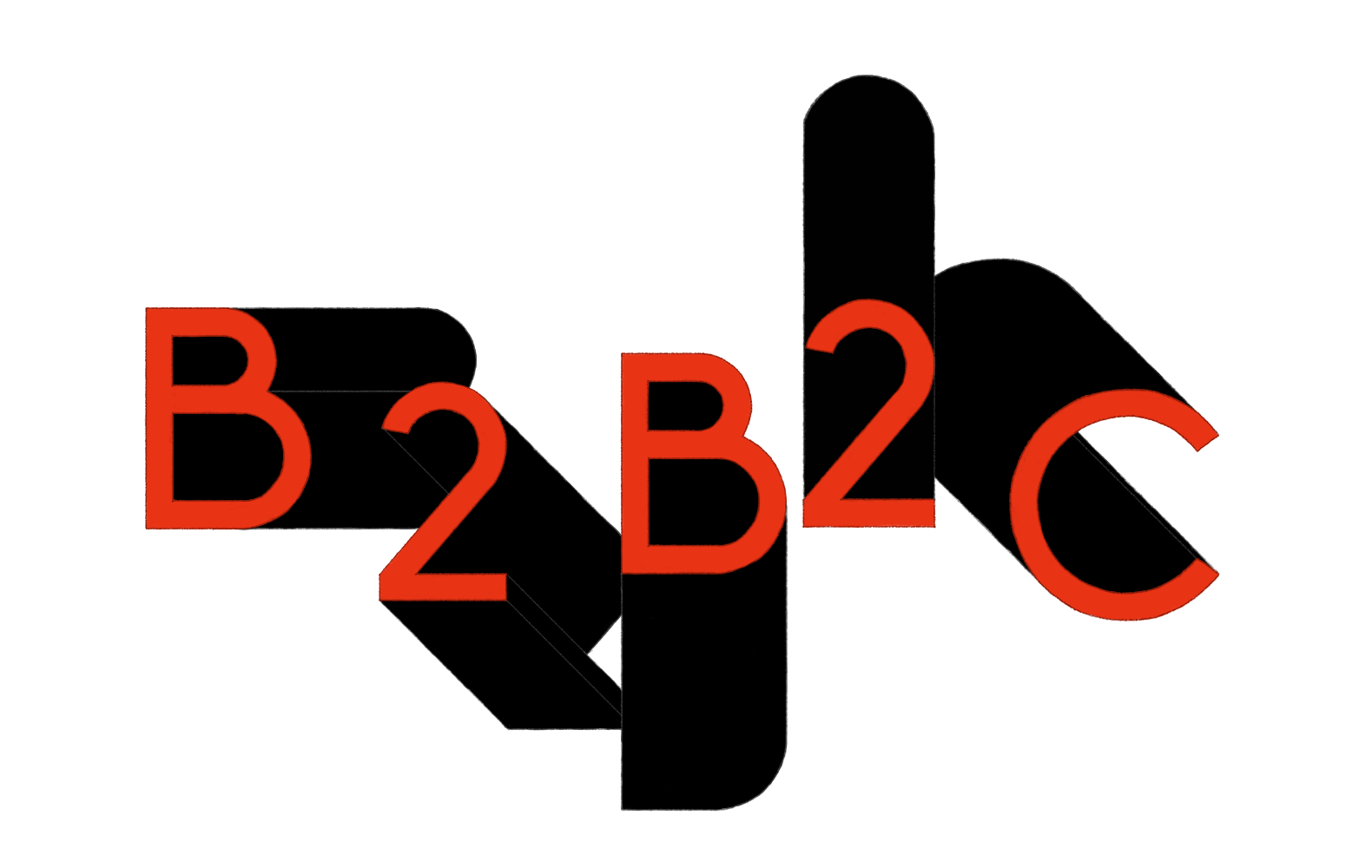 Image of Business to business to consumer acronym (B2B2C)