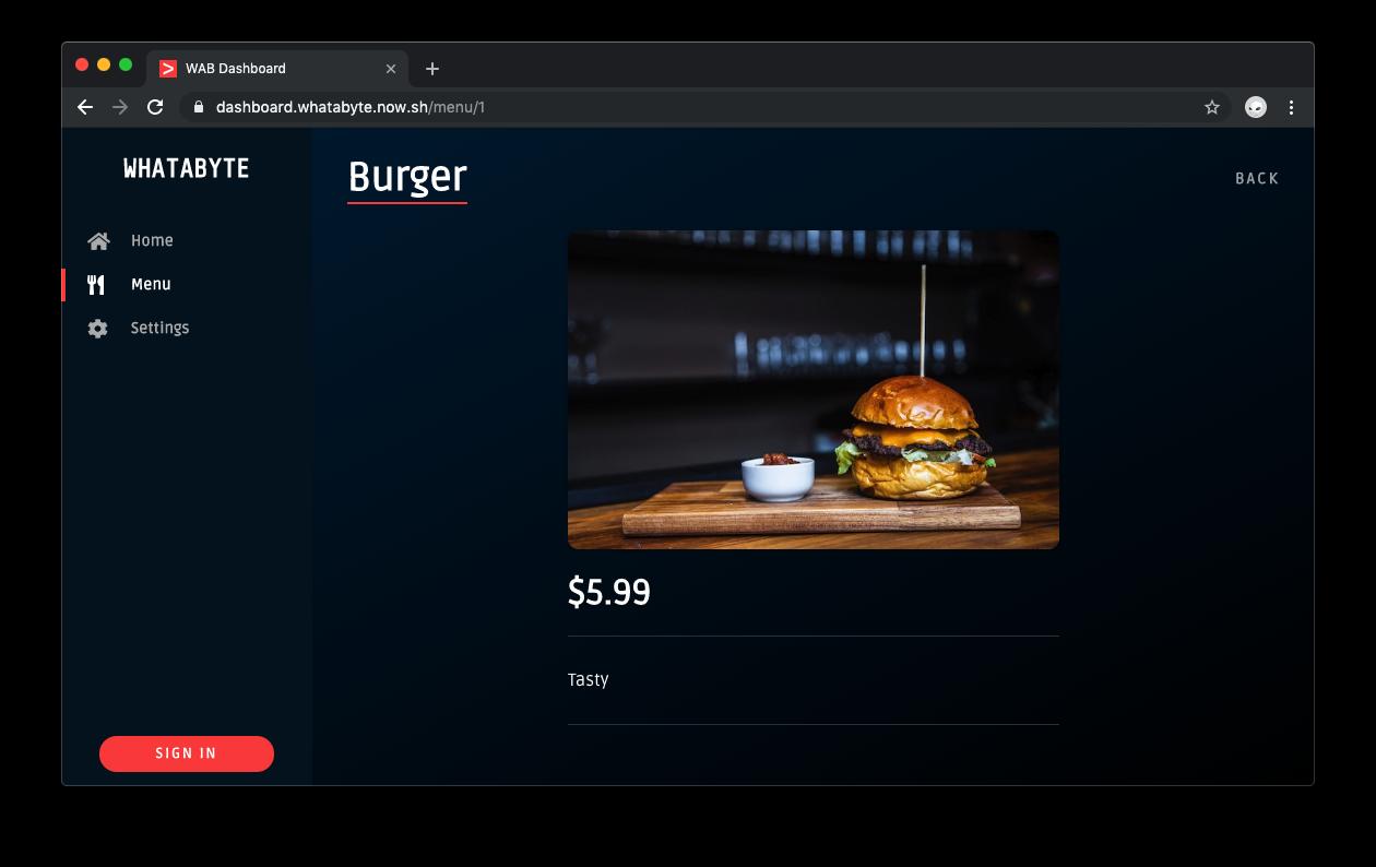 WHATBYTE Dashboard full menu item