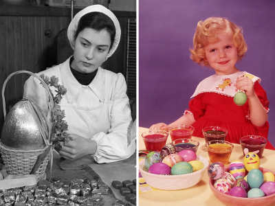 12 Vintage Photographs Of American Families Celebrating Easter The Old Fashioned Way