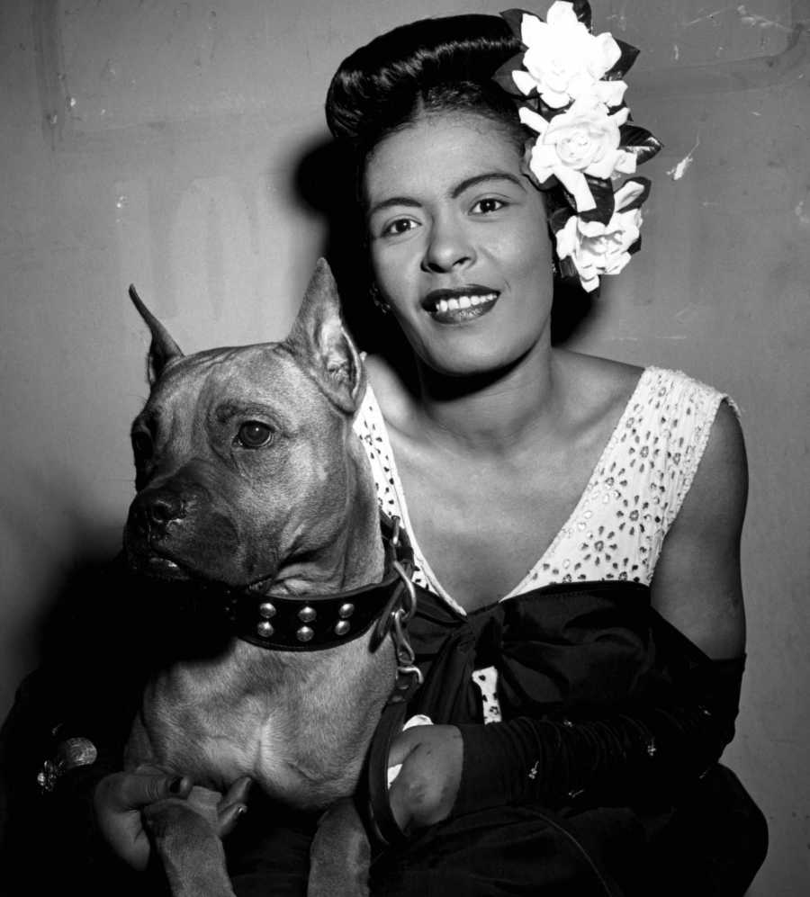 Billie Holiday | 25 Snapshots of Rock Stars and Their Dogs | Purple Clover