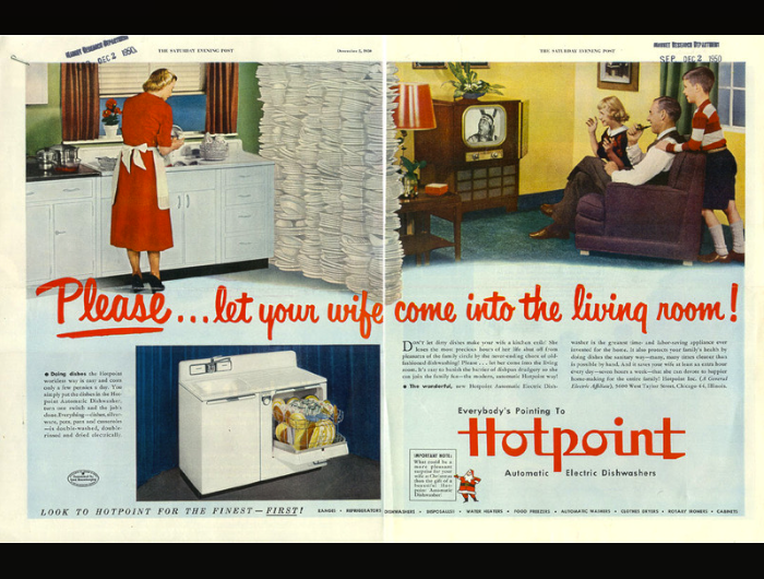 Hotpoint Dishwasher | 13 Stunningly Sexist Ads from the