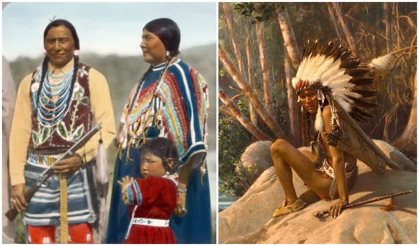 Stunning Vintage Color Photos Reveal Native American Cultures ...