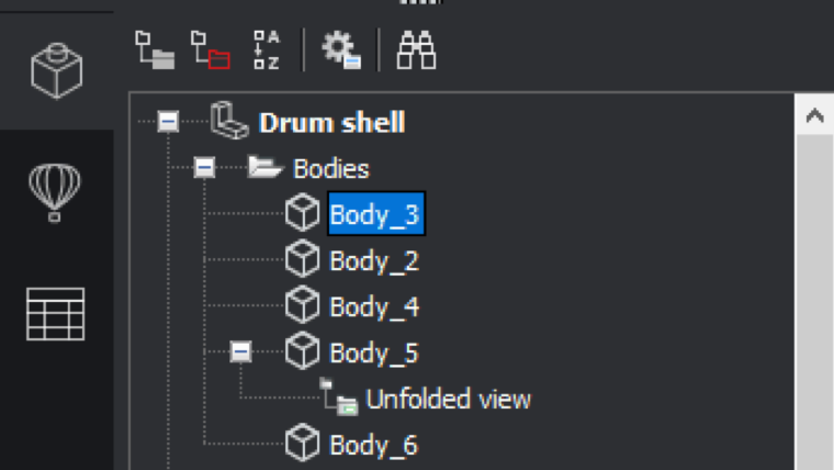 Mechanical - Sheet metal Properties per body