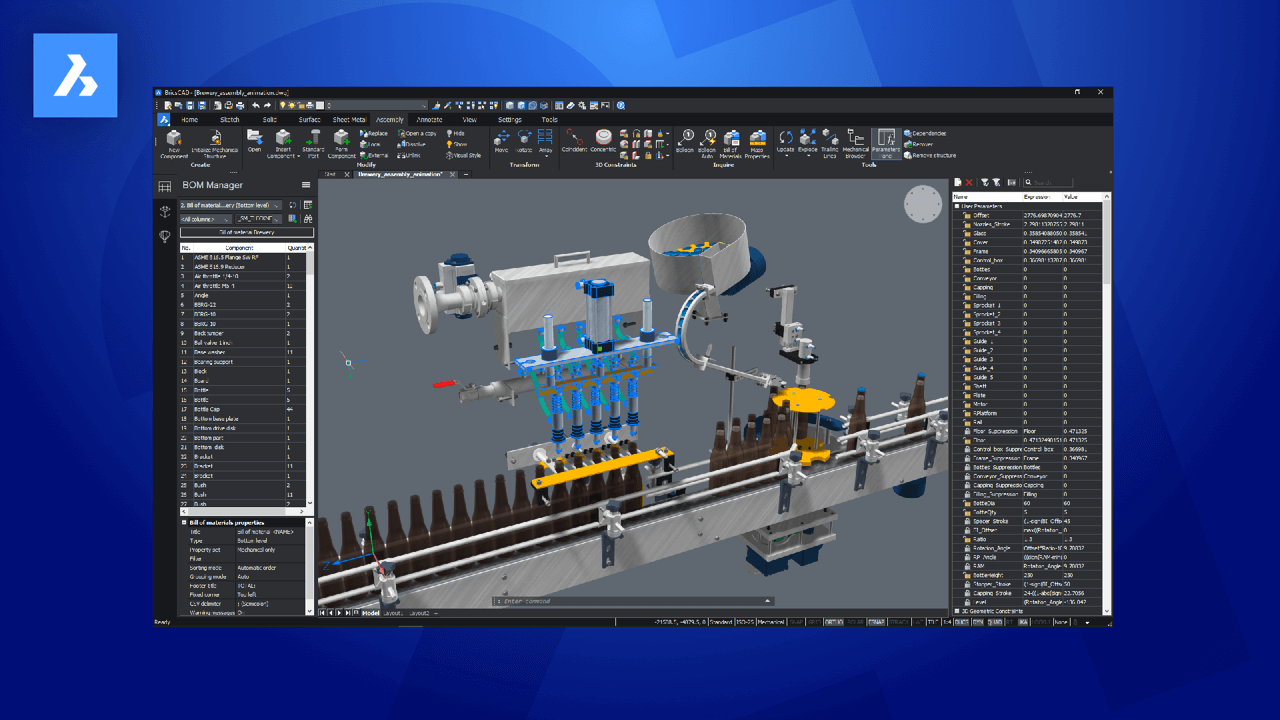 BricsCAD Mechanical V21 PR Image
