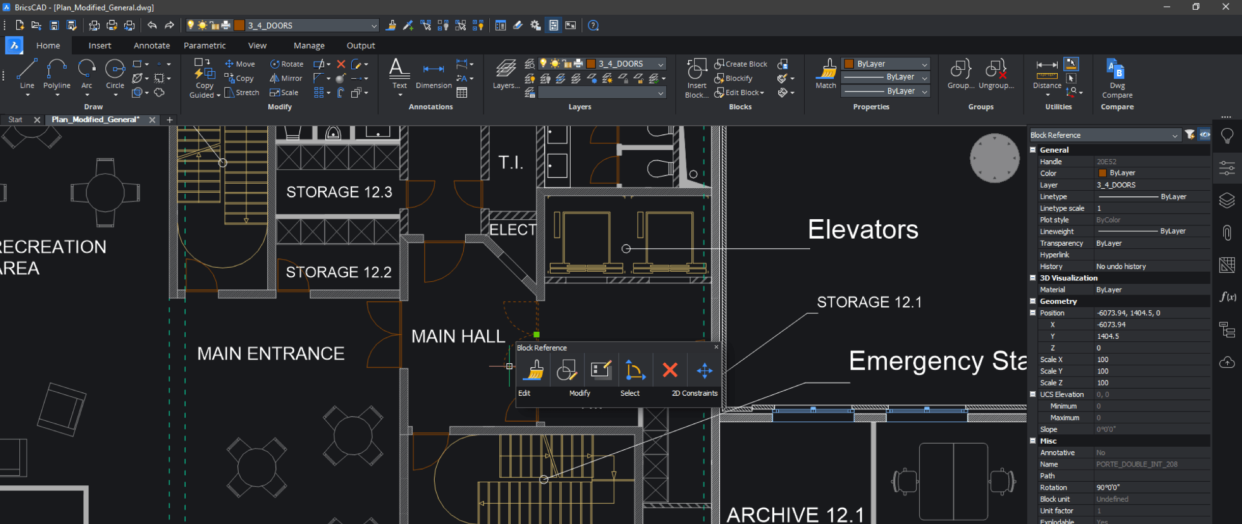 bricscad-Lite-interface
