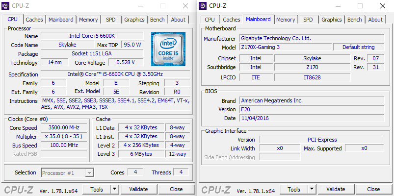 CPU-Z-System-i5-6600k-3500MHz-DDR4-Patriot-Elite-16GB