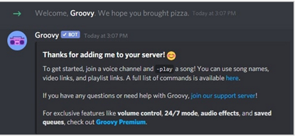 Groovy Bot setup for your discord server