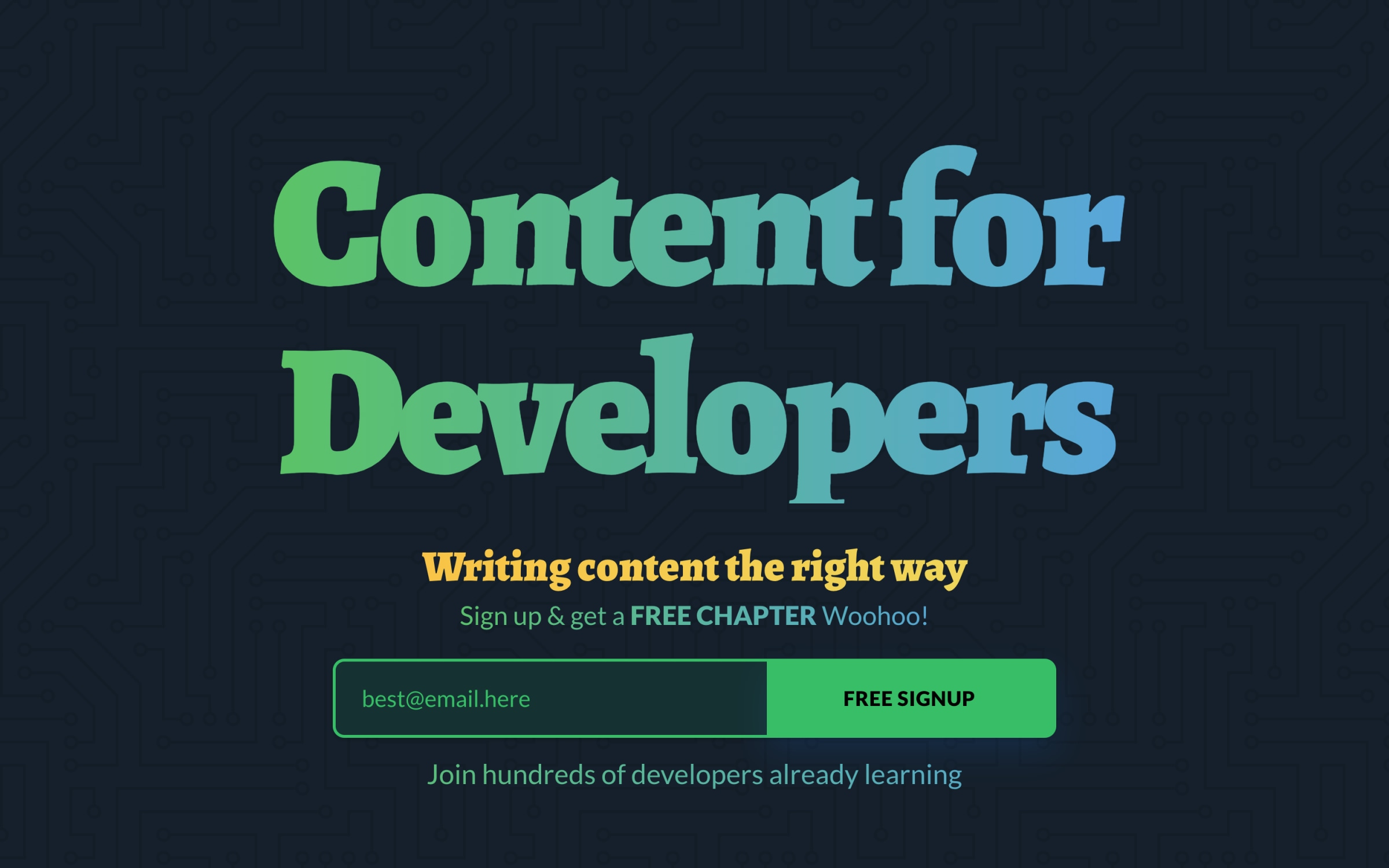 Content For Developers