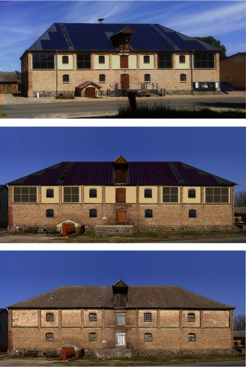 Nechlin: Magazine Building today, planning, historic