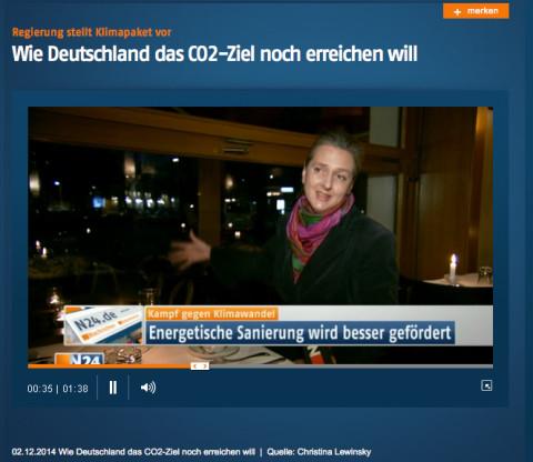 N24 news channel: Architect Astrid Schneider interviewed in Cafe Brel