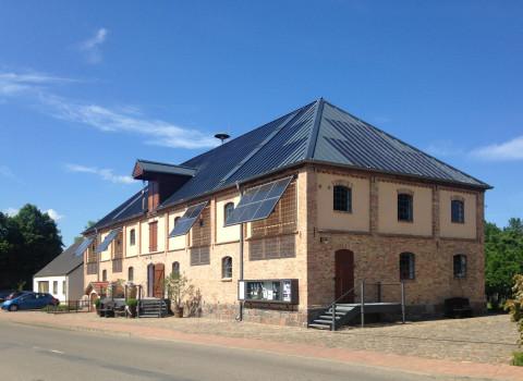Solar Magazine Building with Solar Facade Elements directed towards the sun
