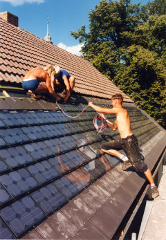 Roofing with Sunlates TM in Horno