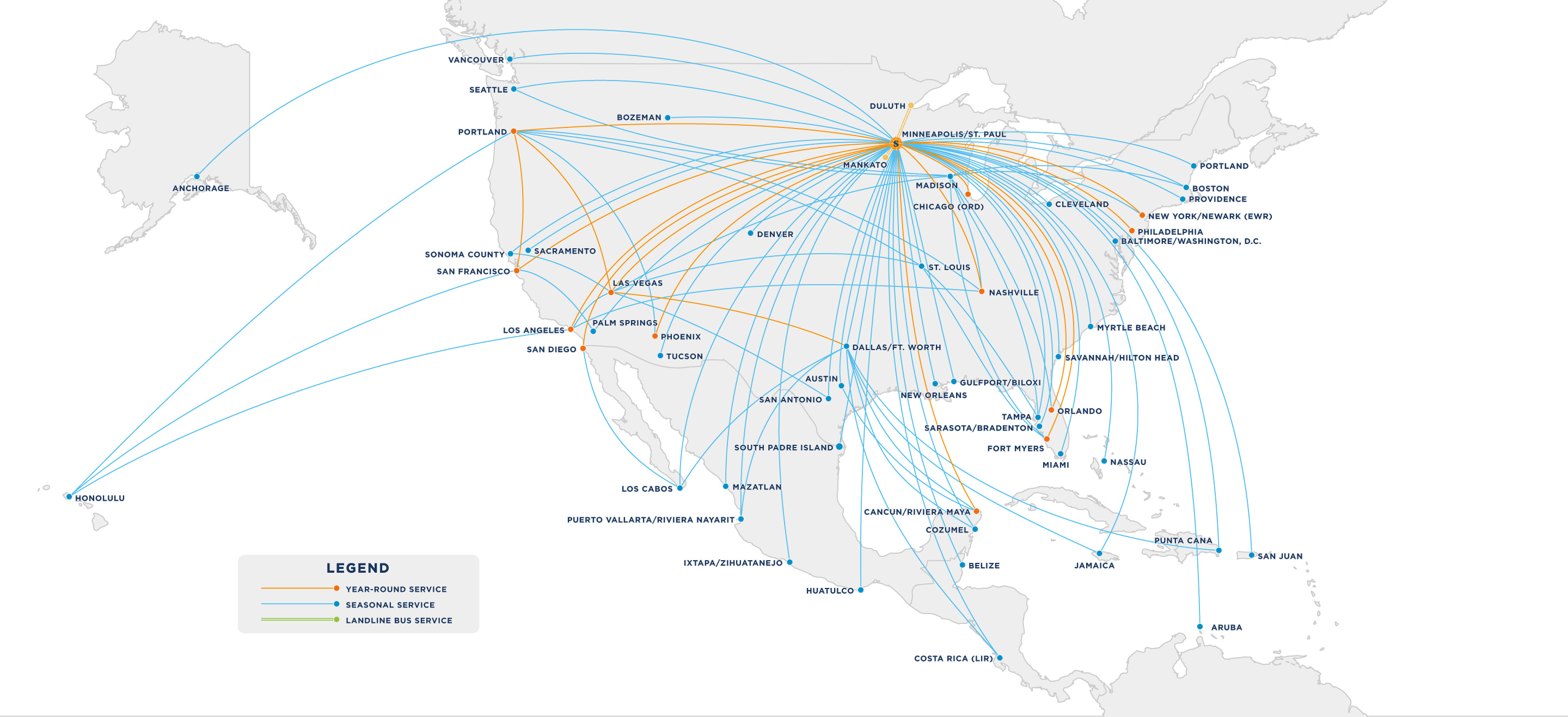 Route Map - Sun Country Airlines