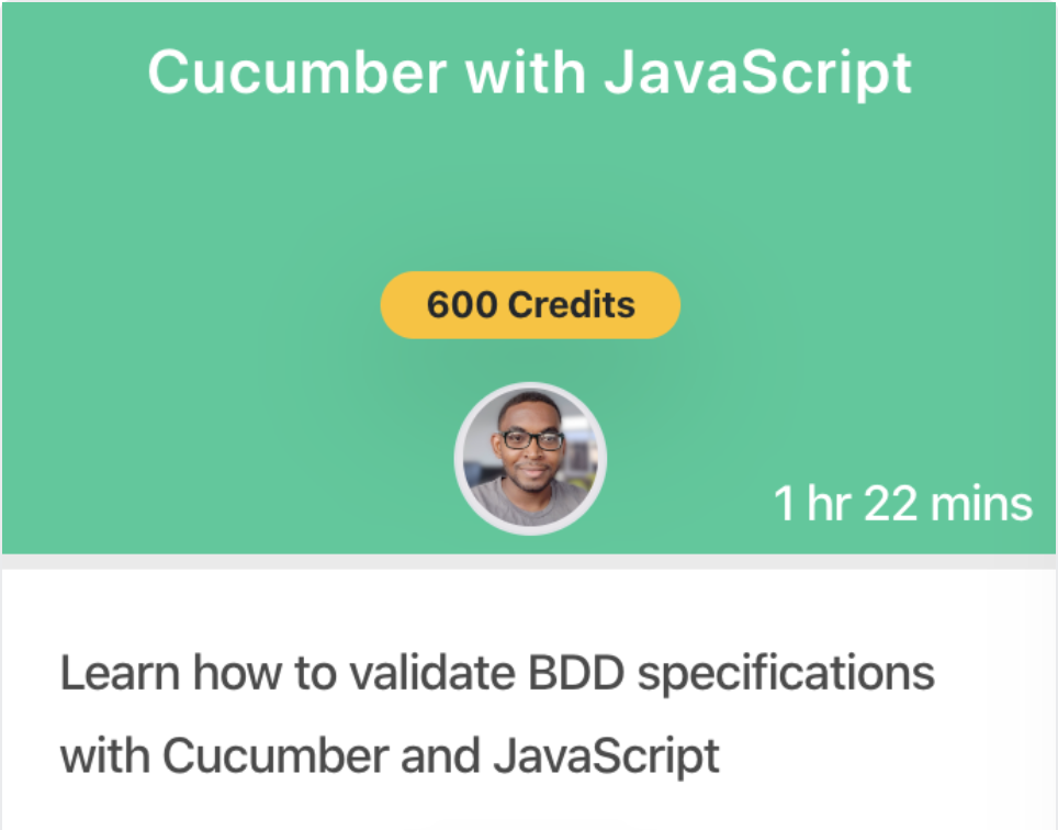 Cucumber with Javascript Course