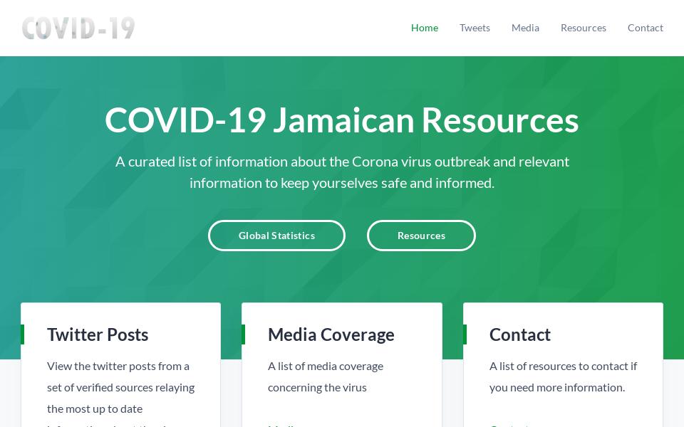 COVID-19 Jamaican Resource Website