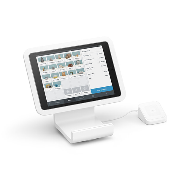 Square Stand for contactless and chip and PIN