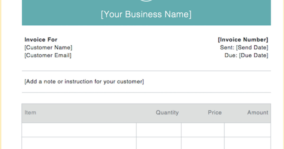 Invoice Samples Examples For Every Business Square