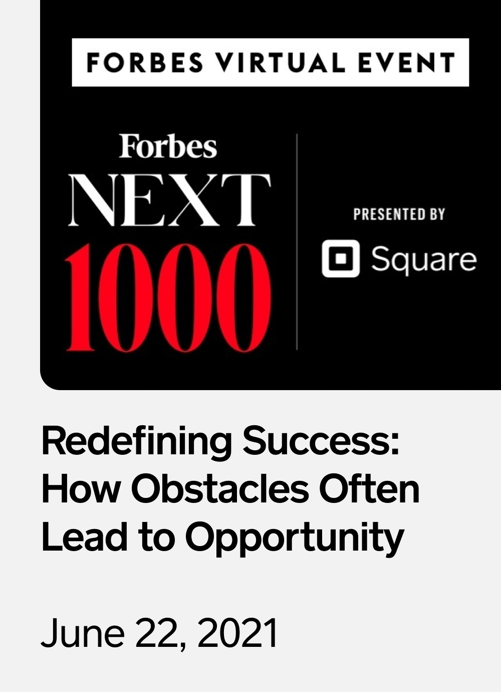 Forbes Next 1000 June event sidebar