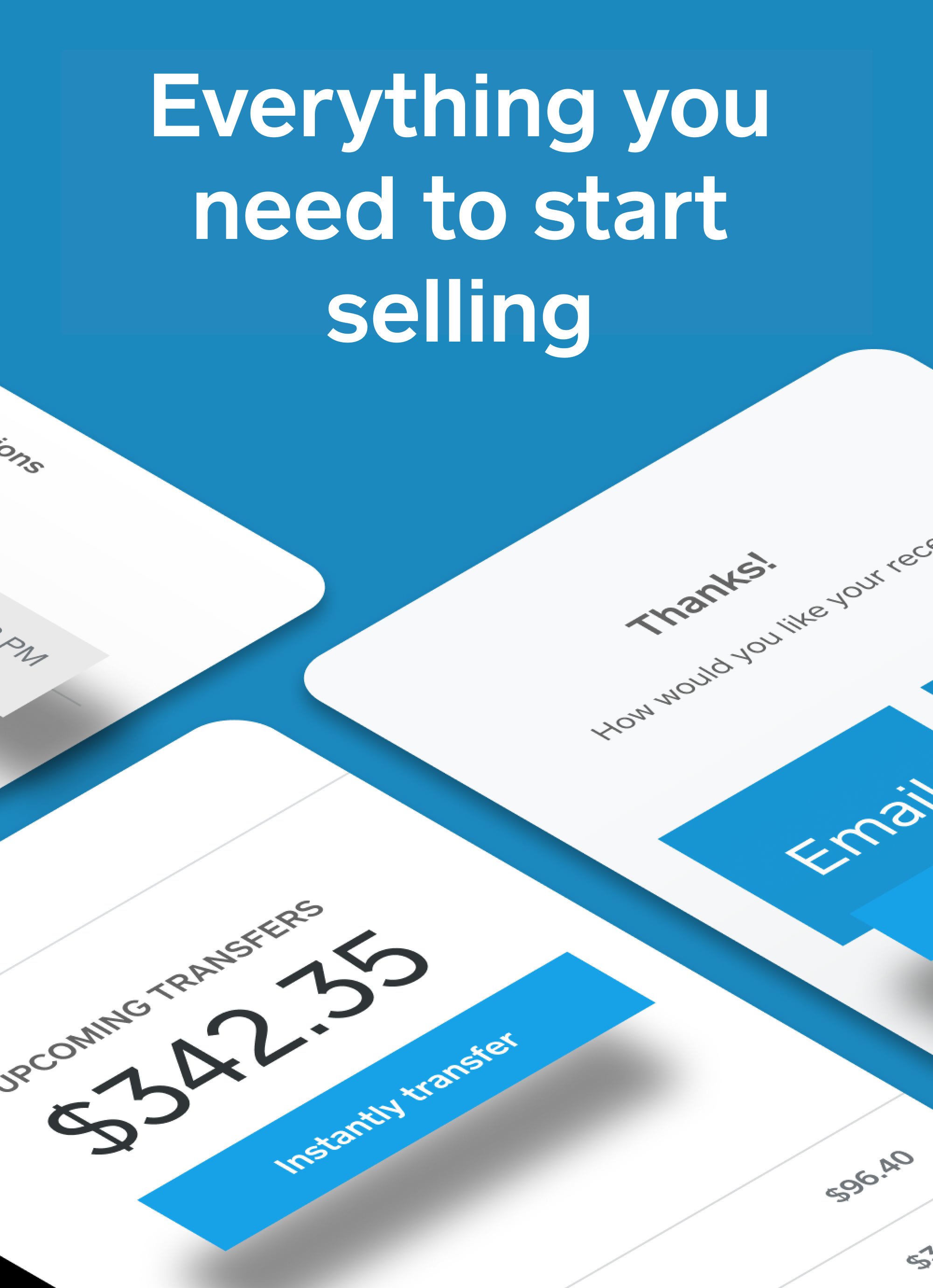 Everything you need to start selling