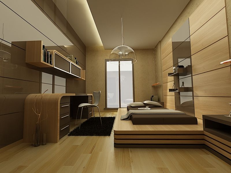 intelligently furnished room to maximize space usage