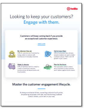 mini customer engagement infographic image