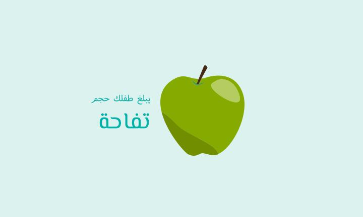 يبلغ طفلك حجم تفاحة