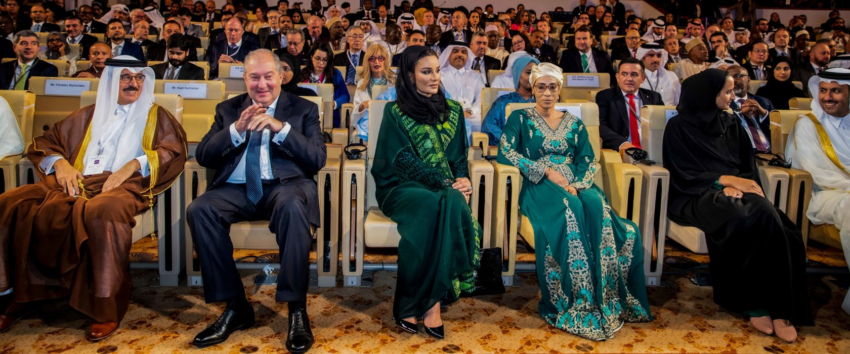 Her Highness Sheikha Moza bint Nasser attends WISE Summit 2019