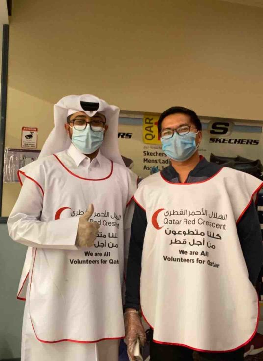 QF Volunteers Qatar Red Crescent Society - v - 2