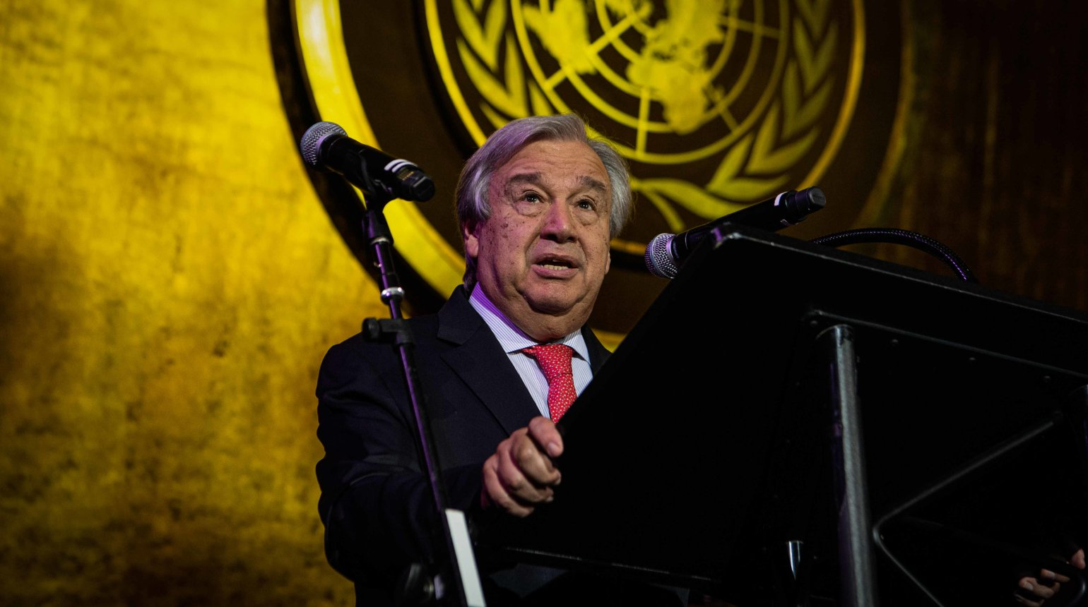 <p>His Excellency Mr. António Guterres, United Nations Secretary-General, spoke of the need to accelerate action toward achieving the UN Sustainable Development Goals. </p>