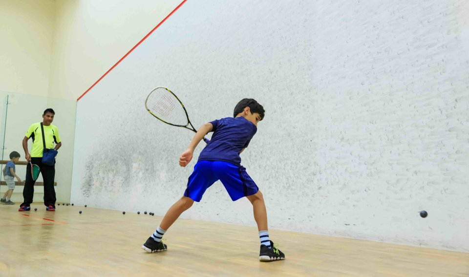 Squash Class in Education City