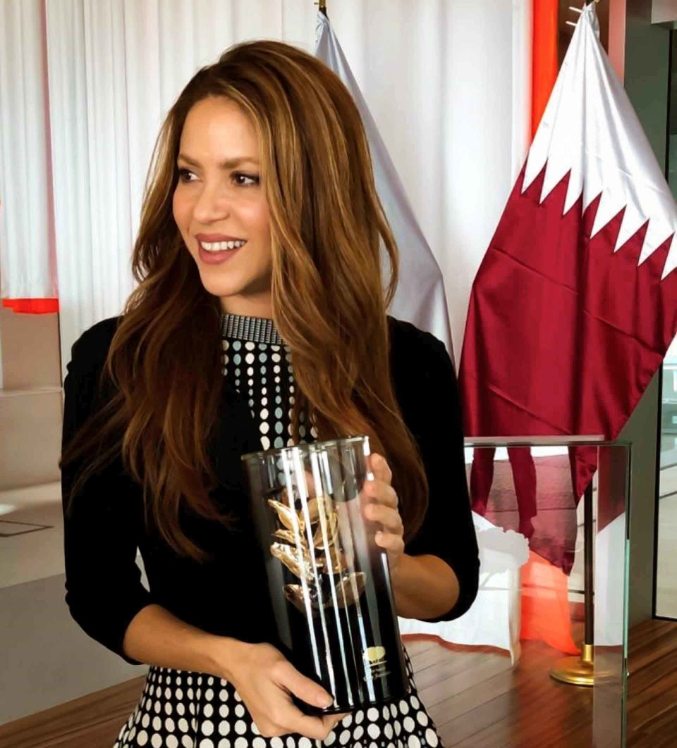 Pop star Shakira visits Qatar
