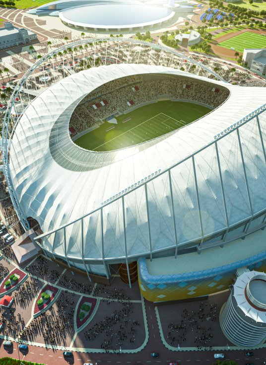 Stadiums - Qatar's Preparations - 2022 FIFA World Cup™ - Khalifa International Stadium - vertical
