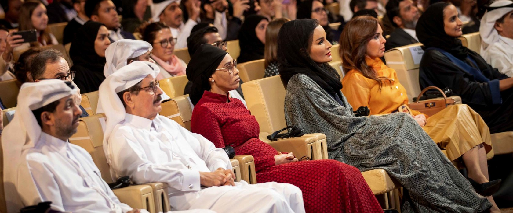 Her Highness Sheikha Moza bint Nasser attends closing ceremony of WISE Summit 2019