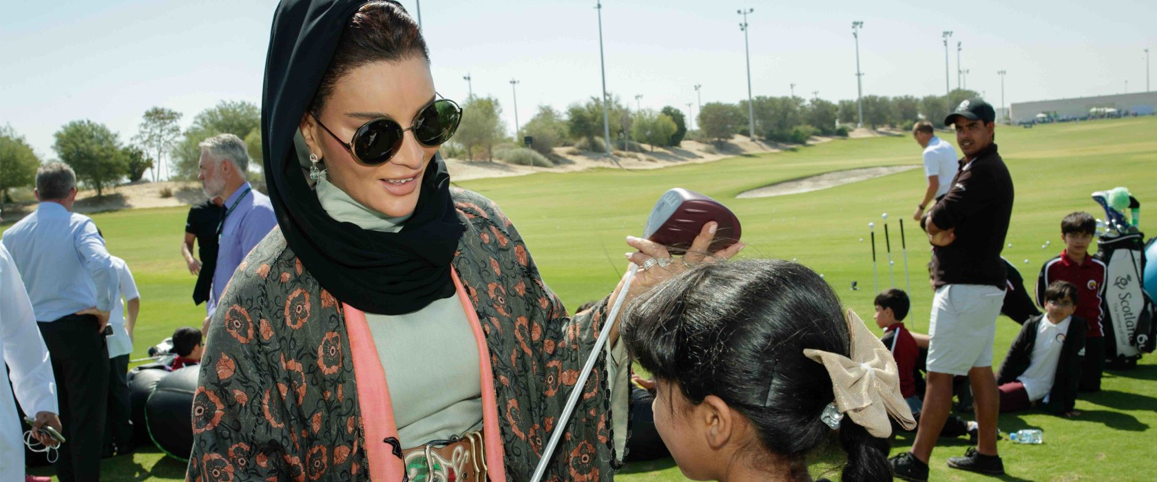 Her Highness Sheikha Moza bint Nasser attends opening of the Education City Golf Club