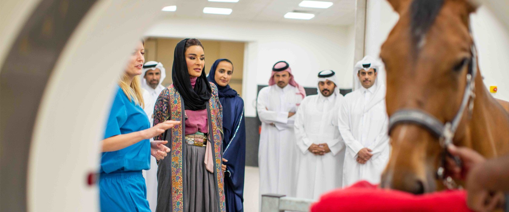 Her Highness Sheikha Moza bint Nasser opens QF's Equine Veterinary Medical Center