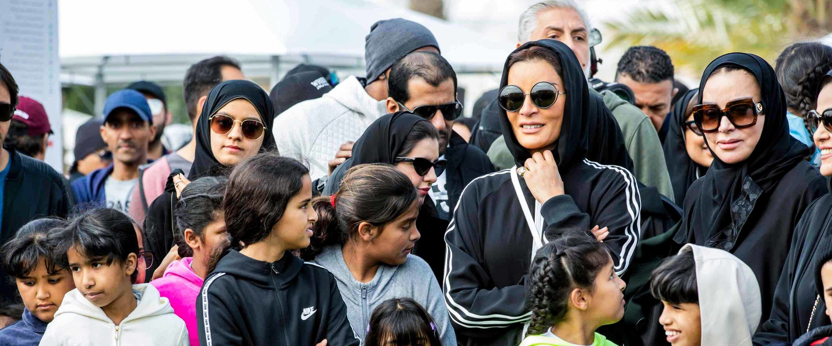 Her Highness Sheikha Moza bint Nasser joins QF's National Sport Day activities
