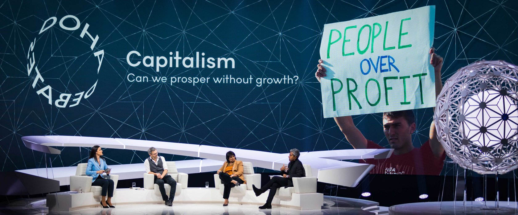 Capitalism is broken and only people power can fix it, Doha Debates audience told
